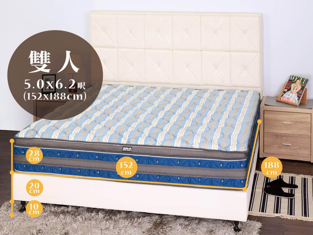 德瑞克雙人床墊尺寸