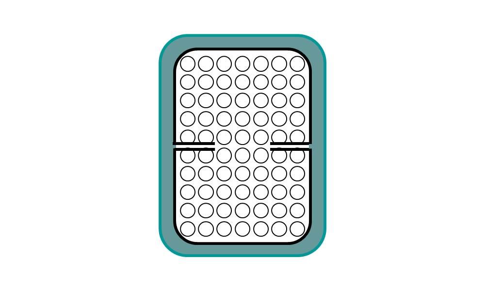 床墊可折設計 改良式一體成型可折式鐵框