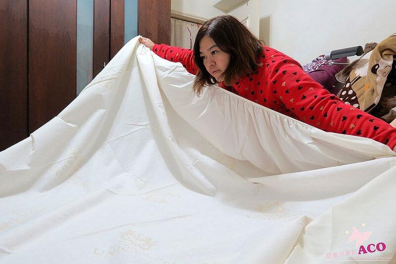 四邊使用鬆緊帶床包包覆式設計